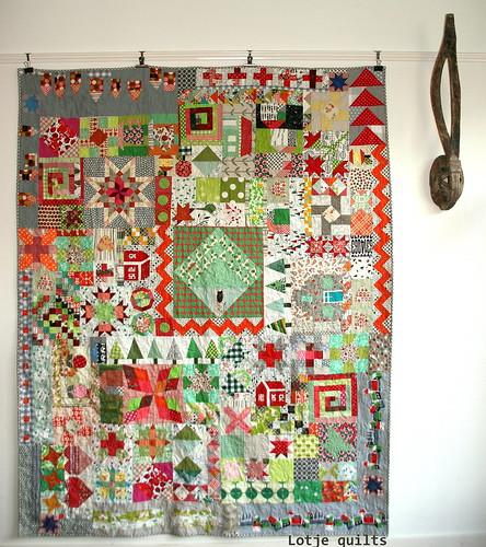 Funky garden quilt
