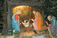 manger(0.0), temple(1.0), christmas decoration(1.0), nativity scene(1.0),