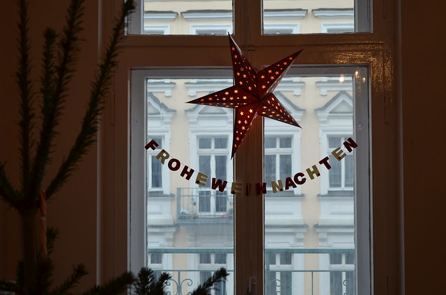 Frohe Weihnachten Merry Christmas banner