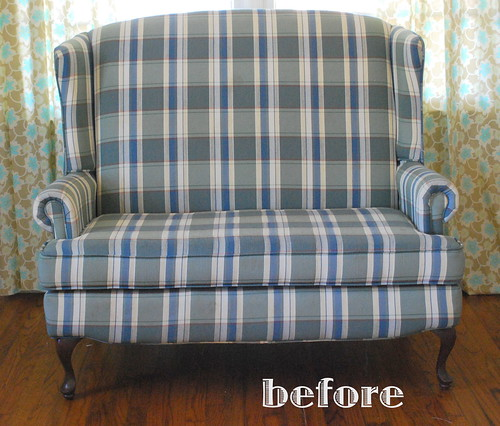 settee before slipcover