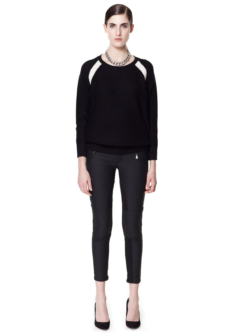 Zara Coated Trousers with Quilted Knees