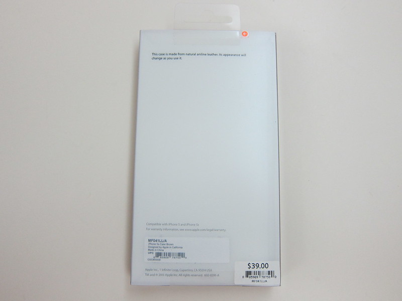 Apple iPhone 5s Case - Box Back