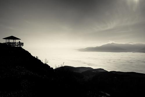 sun mountain nature fog clouds canon cabin skopje vodno