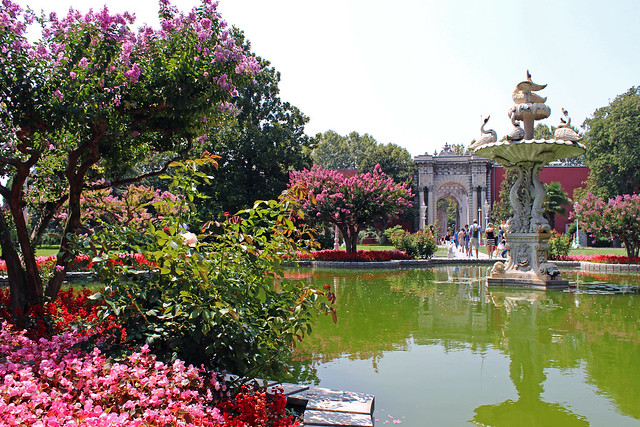 Dolmabahce Palace Garden   Flickr - Photo Sharing!