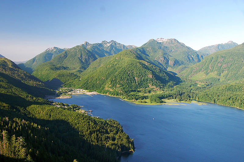 The Village of Tahsis on Tahsis Inlet off Nootka Sound, North Vancouver Island, British Columbia