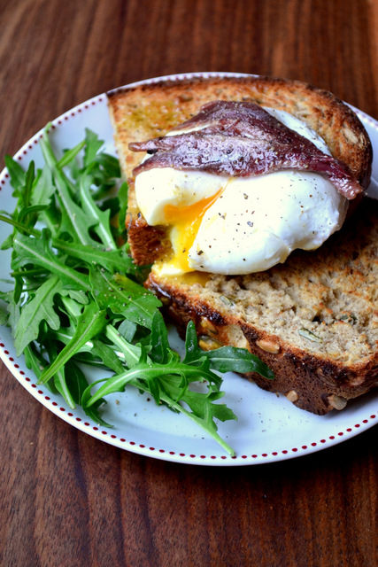 Poached Eggs with Anchovies Recipe (1)