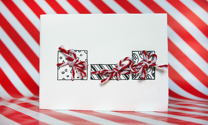 Christmas Cards - three presents design
