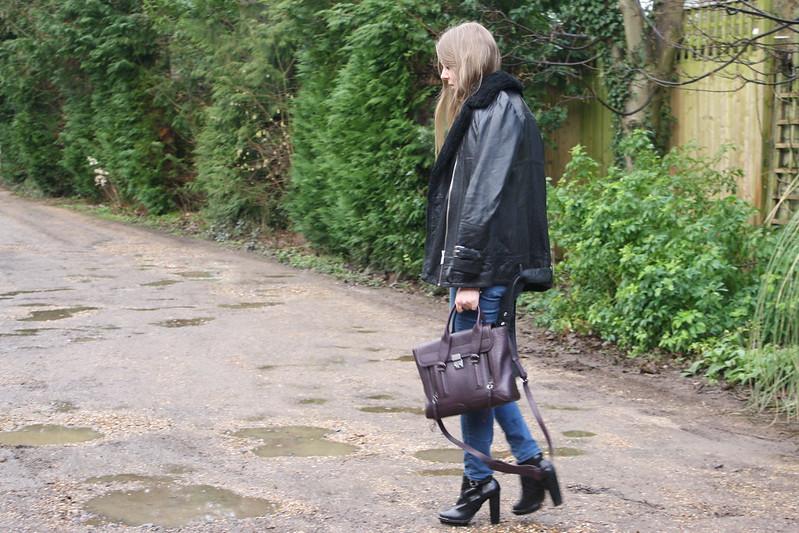 Topshop Portabello black heeled boots