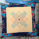 Embroidered Granny Square Pillow