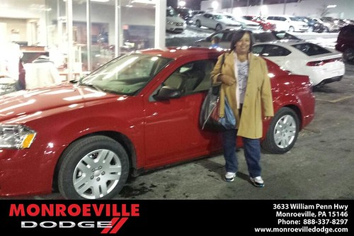 Thank you to Michelle Carter on your new car from Jarred  Terrell and everyone at Monroeville Dodge! #NewCar by Monroeville Dodge