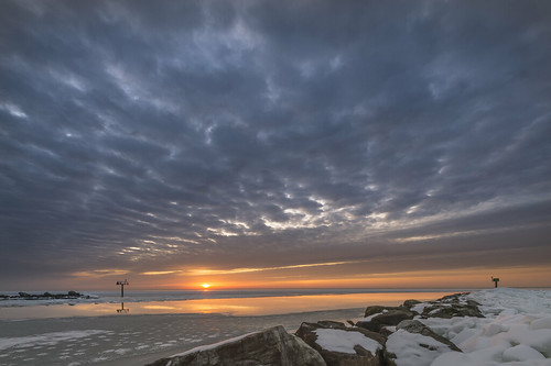 ocean sun newyork cold reflection ice water sunrise bay frozen football nikon bright super bowl longisland landsend nikkor broncos sayville nycity d4 nikon1424mmf28afs robnycity robree