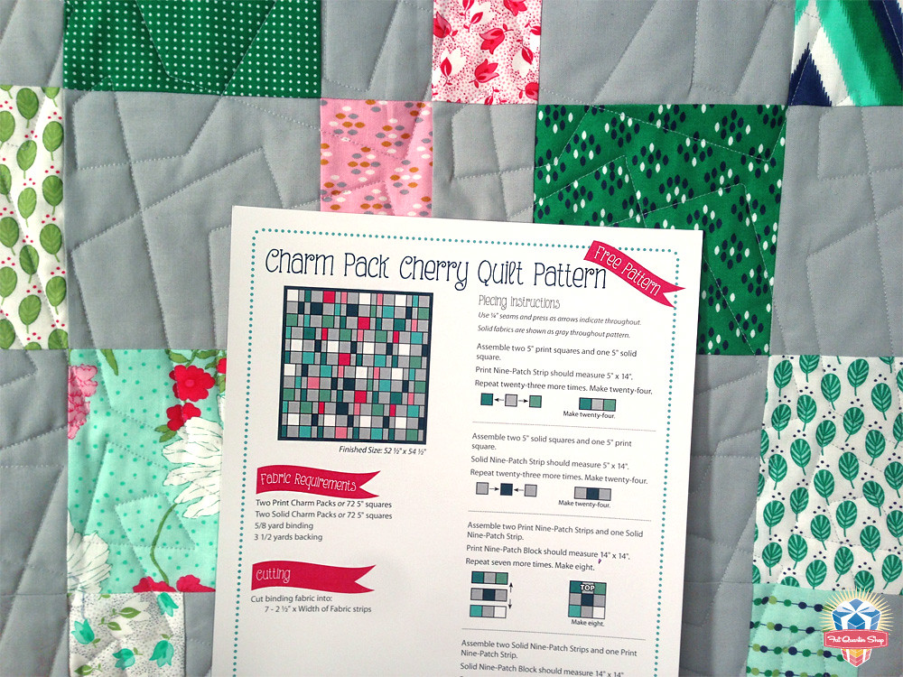 Fat Quarter Shop s Jolly Jabber: Charm Pack Cherry: Free Quilt Pattern