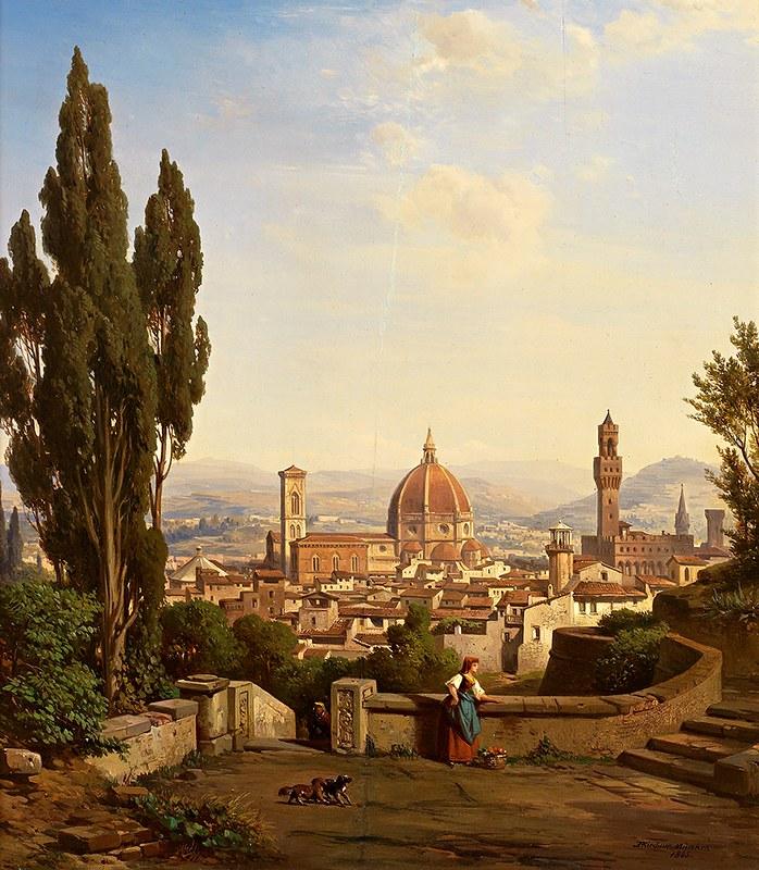 Albert Emil Kirchner - Blick auf Florenz (c.1865)