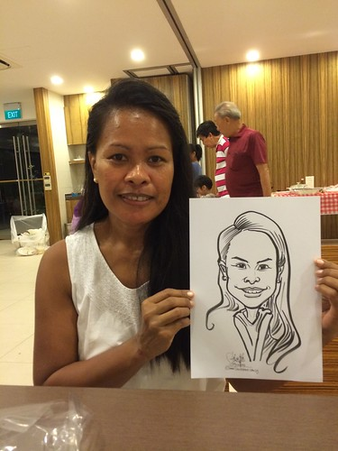 birthday party live caricature sketching
