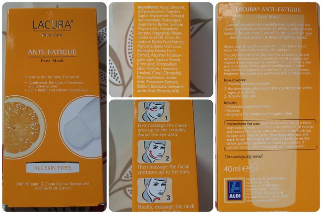 Lacura Anti-Fatigue Face Mask Review
