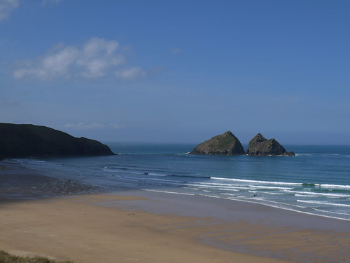 Back on Holywell beach
