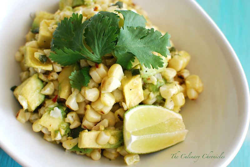 Roasted Corn & Avocado Salad
