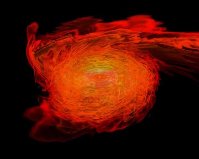 Photo:Neutron Stars Rip Each Other Apart to Form Black Hole By:NASA Goddard Photo and Video