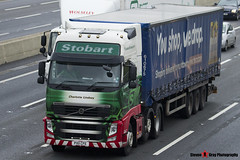 Volvo FH 6x2 Tractor with Tesco 3 Axle Curtainside Trailer - PX11 CFE - H4748 - Charlotte Lindsay - Eddie Stobart - M1 J10 Luton - Steven Gray - IMG_4923