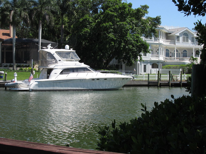 Yacht and house