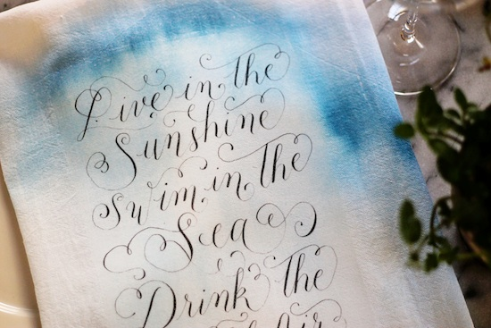 Watercolor Tea Towel | www.brooklynlimestone.com