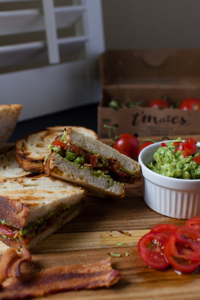 The Ultimate B.G.T Sandwich {Bacon Guacamole Tomato} | asouthernfairytale.com