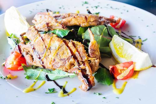 Soft Shell Crab Over Salad
