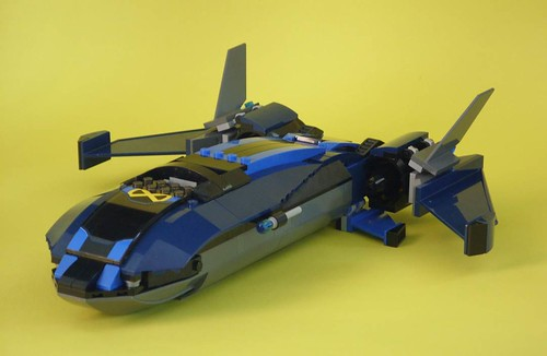 2 - 1 pair 3x12 Dark Blue Helicopter Blades ~  New Lego Parts ~