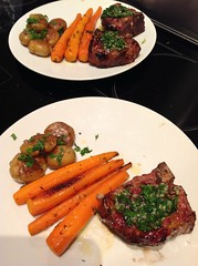 Grilled lamb loin chops with chimichurri sauce (Ap…