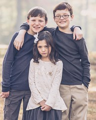 Was it something I said? Sometimes you don't get the expression you were going for - but I still love this image from a shoot with my niece and nephews this weekend. #twooutofthreeaintbad #sonya6300 #sonyalpha #familyphotography #fall #family #portrait