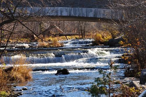 cazenovia newyork chittenangofallsstatepark chittenangofalls 167feet 51meter chittenangocreek afternoon autumn viewabovethefalls roughwater