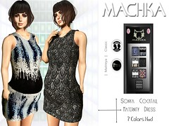 ~ϻ:SONYA Cocktail Maternity Dress 7 Color HUD