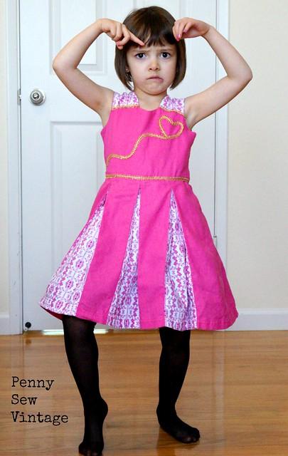 Raglan Party Dress with Underskirt