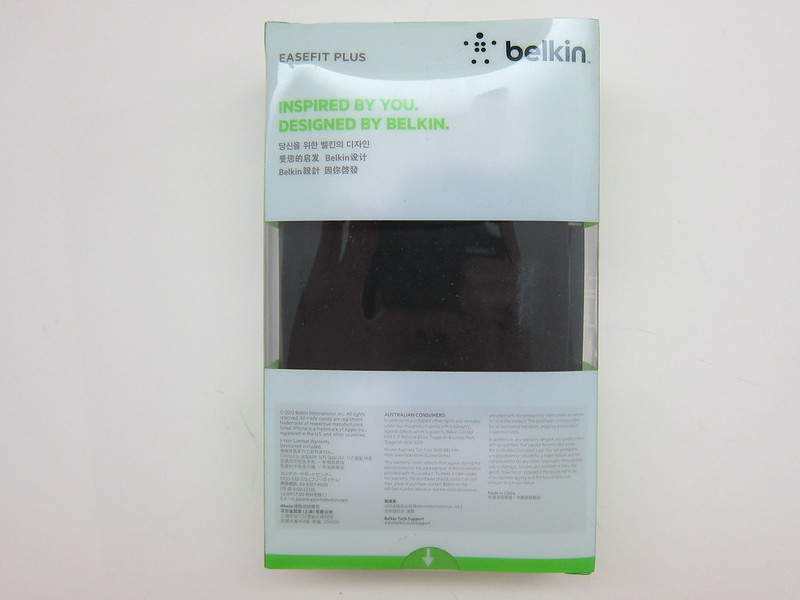 Belkin EaseFit Plus Armband for iPhone 5 - Box Back