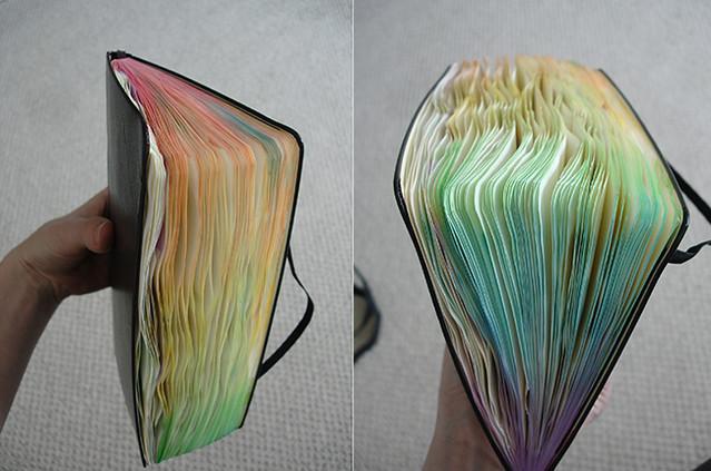rainbow gradient page edges