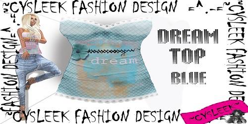 Cysleek corset blue