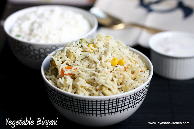 vegetable biryani no onion- no garlic 3