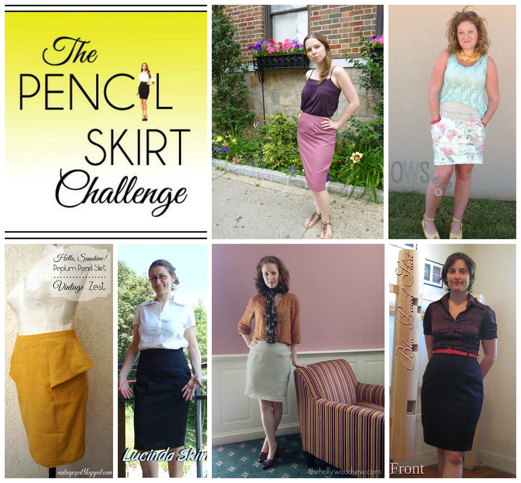 Pencil Skirt Challenge Collage