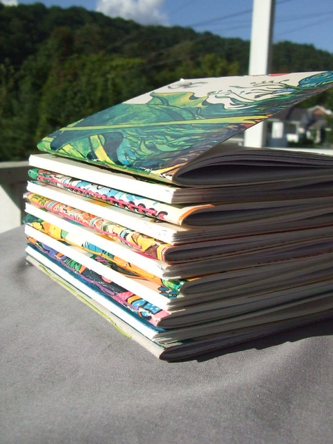 Stack of Jotters