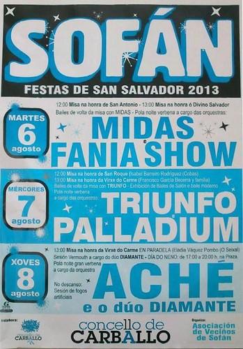 Carballo 2013 - Festas de San Salvador en Sofán - cartel