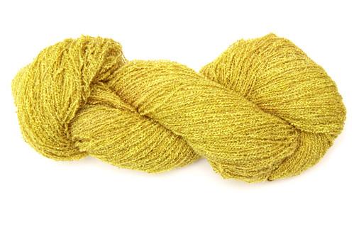 Lemon yellow sport weight bouclé yarn