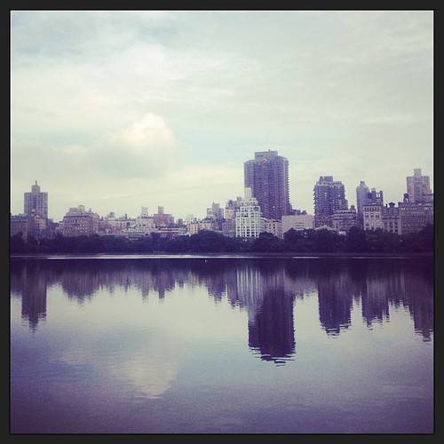View from Central Park #nyc #skyline #reflections #centralpark