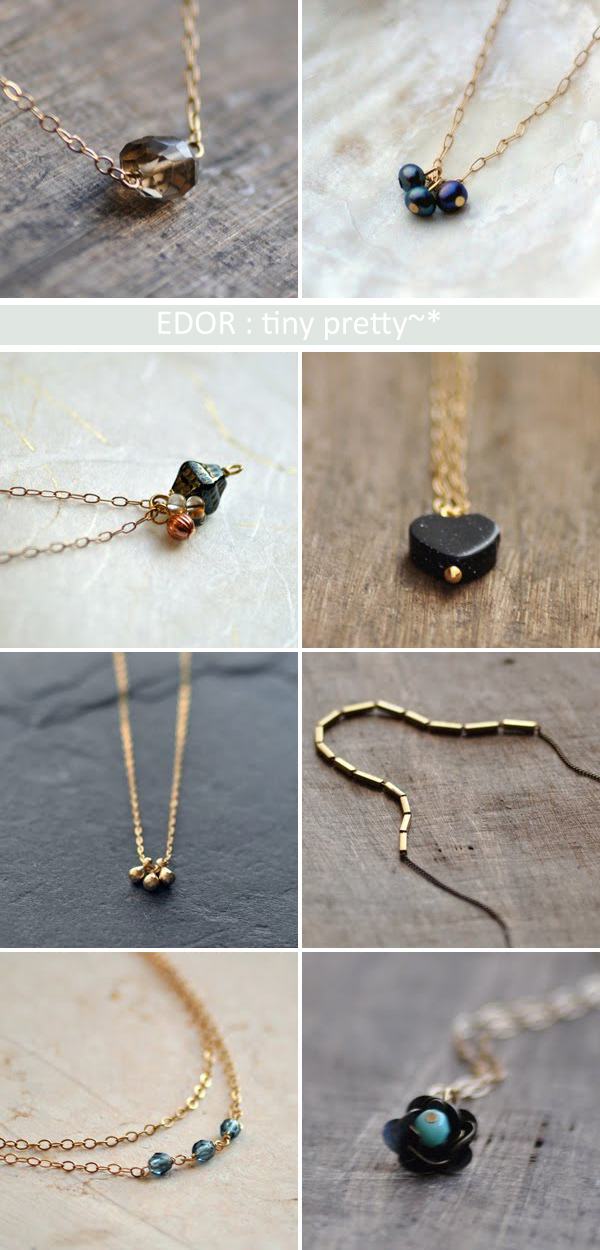 Minimalist, delicate and pretty jewellery from EDOR, tiny pretty~* | Emma Lamb