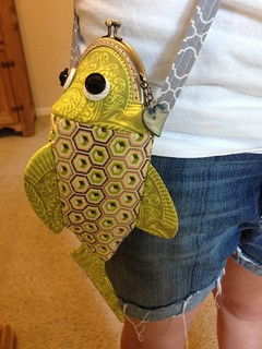 Happy fish frame purse