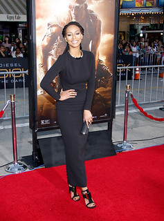 Keri Hilson at the premiere of the movie Reddick