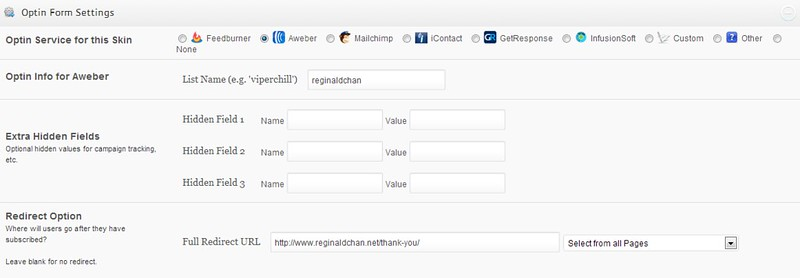 OptinSkin integrates well with many auto responder services
