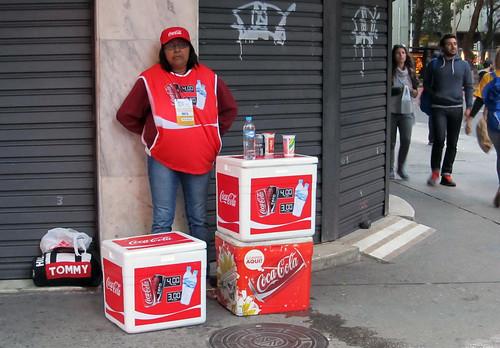Coca-Cola street vendor #76 during JMJ - WYJ  in Cocapacabana Rio de Janeiro by roitberg