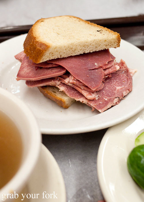 tongue sandwich at katz's deli nyc new york usa jewish food lower east side les