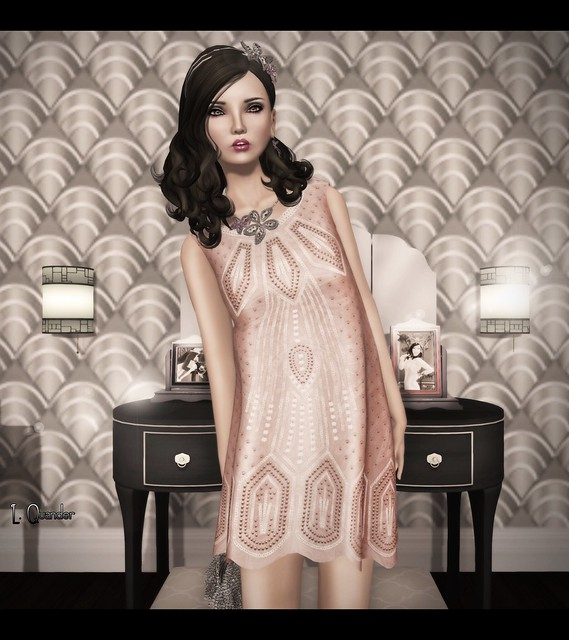 C88 August - The Secret Store - Sequined Flapper Dress V1 - Nude &  PXL Vintage Kate