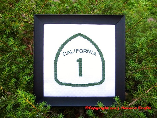 California Highway Sign Cross Stitch